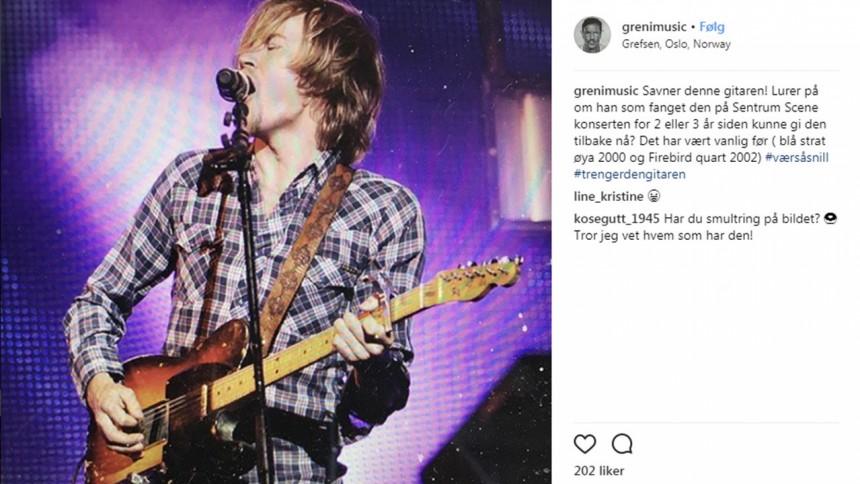 — Jeg savner gitaren min, kan jeg få den tilbake?